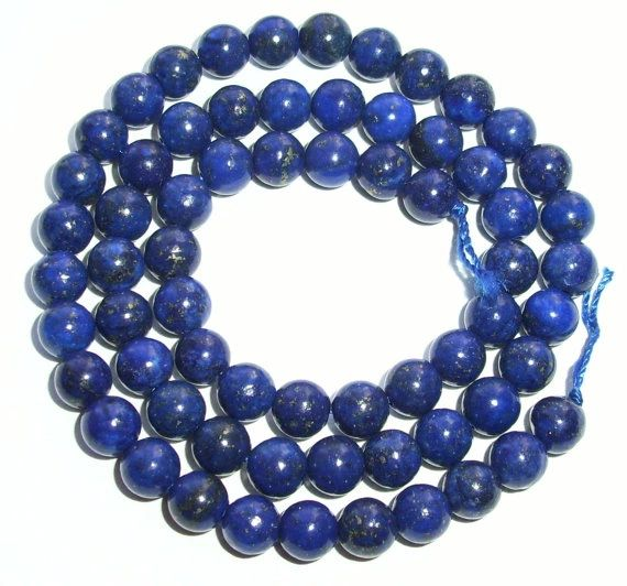 "16"" Strand of AAA Rated Genuine (Natural) Afghani Lapis Lazuli Beads (3mm-10mm)"