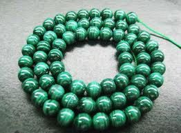 "16"" Strand of AAA Rated Genuine (Natural) Green With Swirls Malachite Beads (3mm-10mm)"