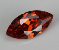 MARQUISE FACETED AAA BRIGHT ORANGE RED (NATURAL) GARNET