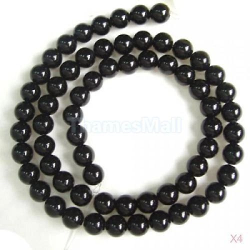 "16"" Strand of AAA Rated Genuine (Natural) Onyx Beads (3mm-12mm)"