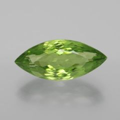 MARQUISE FACETED AAA BRIGHT APPLE GREEN (NATURAL) PERIDOT