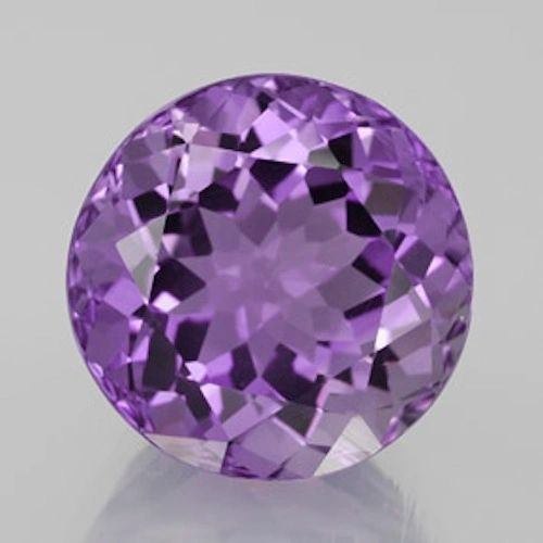 ROUND FACETED AAA BRIGHT PURPLE (NATURAL) AMETHYST