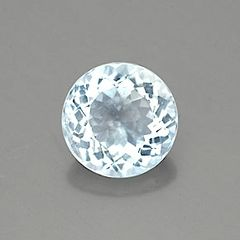 ROUND FACETED AAA BRIGHT BLUE GREEN (NATURAL) AQUAMARINE