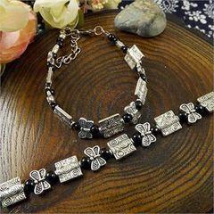 "Woman's Thai Silver Plated Bracelet 17"""