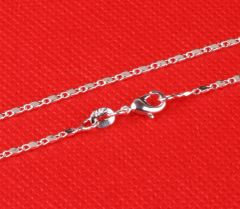 Top Quality Silver Flat Link Chain With Crab Claw Clasp