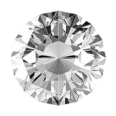 ROUND FACETED AAA BRIGHT WHITE (NATURAL) DIAMOND, H or better, SI3 or better