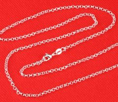 "Top Quality Silver Plated 26"" Link Chain With Crab Claw Clasp"
