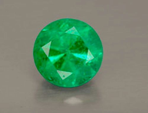 ROUND FACETED GEORGOUS GREEN GENUINE (NATURAL) EMERALD