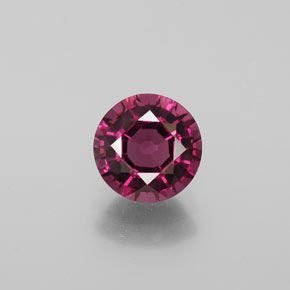 ROUND FACETED AAA BRIGHT ORANGE RED (NATURAL) GARNET