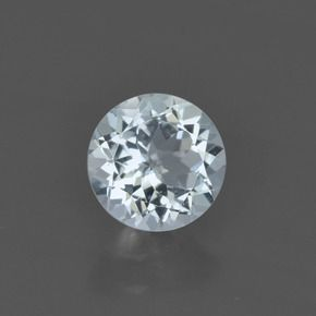 ROUND FACETED AAA BRIGHT SKY BLUE (NATURAL) TOPAZ