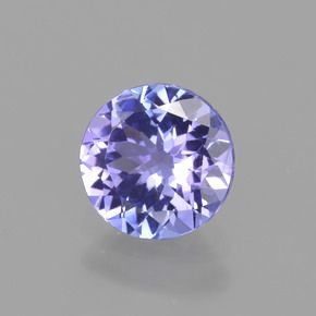 ROUND FACETED AAA BRIGHT BLUE (NATURAL) PRECIOUS TANZANITE