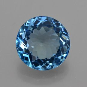 ROUND FACETED AAA BRIGHT LONDON BLUE (NATURAL) TOPAZ