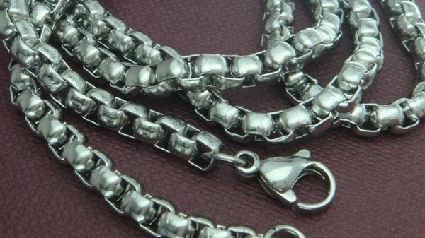"19.7"" Men's White Gold Filled 3.8mm Wide Link Chain With Crab Claw Clasp"