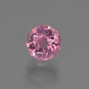 ROUND FACETED AAA BRIGHT PINK (NATURAL) TOURMALINE