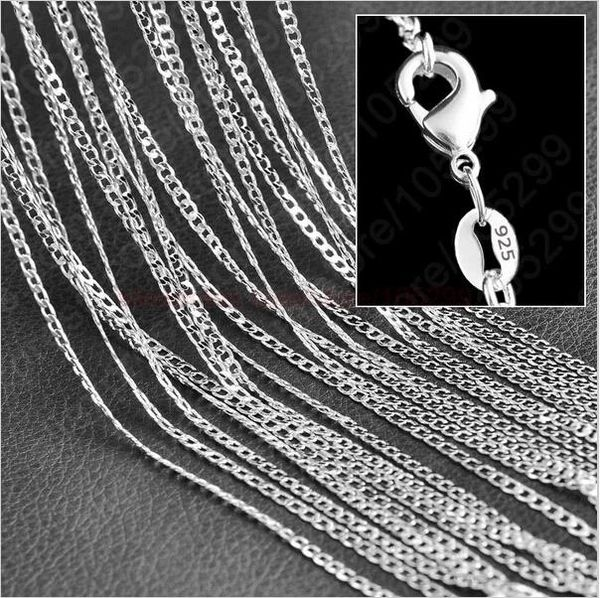 """Very Nice 28"""" Silver Plated 2mm Curb Chain"""