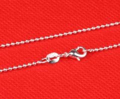 """26"""" Silver Plated Bead Chain with Crab Claw Clasp"""