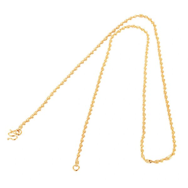 Women's Yellow Gold Filled Water Wave Chain 18.5""