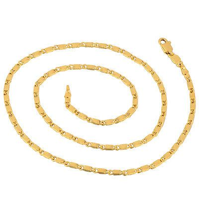 """17.9"""" 18kt Yellow Gold Filled Link Chain"""