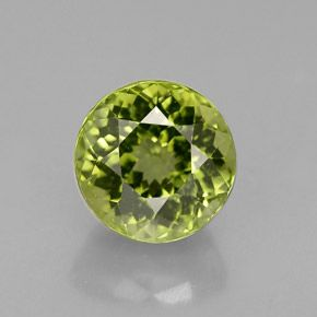 ROUND FACETED AAA BRIGHT APPLE GREEN (NATURAL) PERIDOT