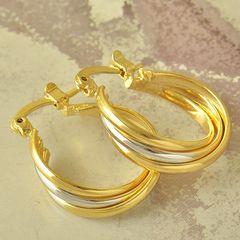 14kt Yellow Gold Filled Fancy (24mm) Hoop Earrings