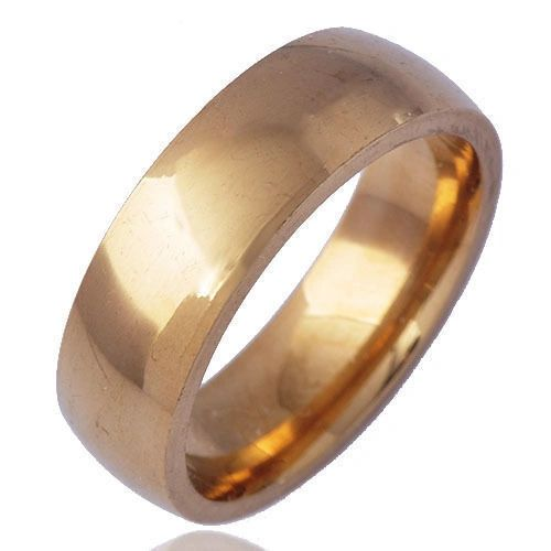 6mm Polished Yellow Gold Plated Band Size 6