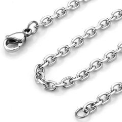 """24"""" Stainless Steel Cable Chain With Crab Claw Clasp"""