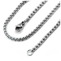 """24"""" Stainless Steel Rolo Chain With Crab Claw Clasp"""