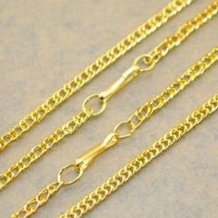 "16"" Yellow Gold Plated Link Chain"