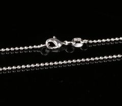 "Silver Plated 24"", 26"", 28"" or 30"" Bead Chain with Crab Claw Clasp"