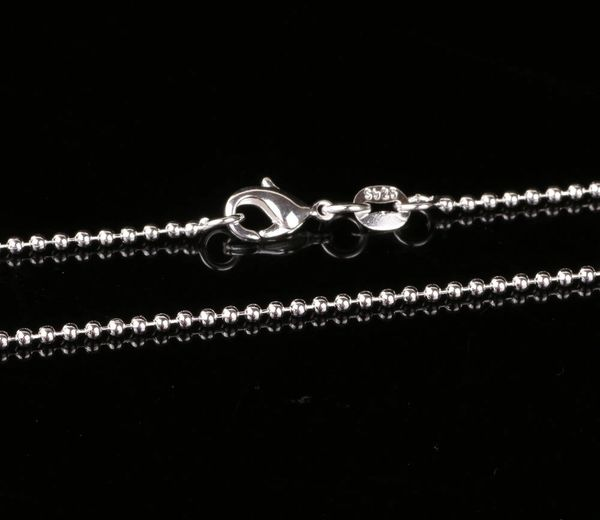 """Silver Plated 24"""", 26"""", 28"""" or 30"""" Bead Chain with Crab Claw Clasp"""