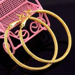 14kt Yellow Gold Filled Fancy (47mm) Hoop Earrings