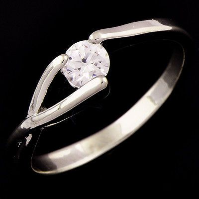 White Gold Filled and Crystal Accented Ring Size 5.5