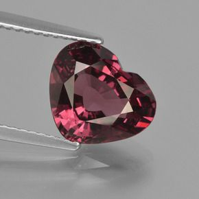 ROUND FACETED AAA BRIGHT PURPLE RED (NATURAL) RHODOLITE GARNET
