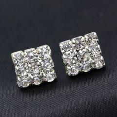 12x12mm Fancy Chandelier Crystal Stud Earrings