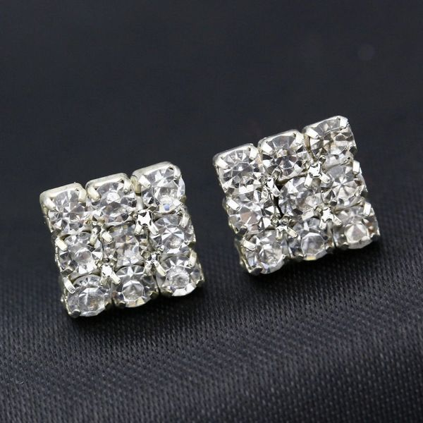 12x12mm Fancy Chandelier Crystal Stud Earrings