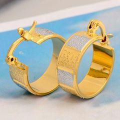 14kt Gold Filled Snake Skin (15mm) Wide Hoop Earrings