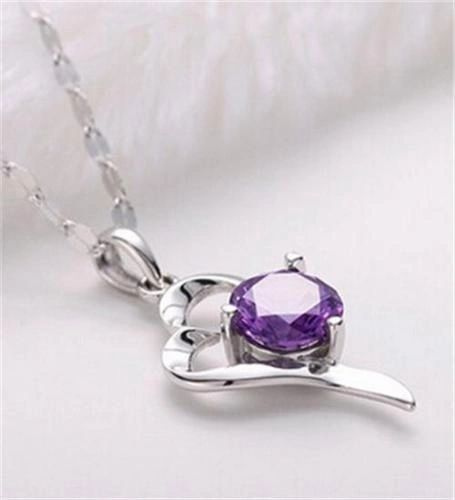 Elegant Silver Plated & Crystal Fancy Pendant (Chain Not Included)