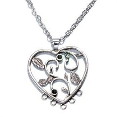 Heart Rhinestone Necklace