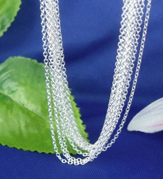 "Silver Plated 22, 24 or 30 Inch ""O"" Link Chain with Crab Claw Clasp"