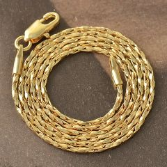 "9kt Yellow Gold Filled 17.8"" Twisted Chain With Lobster Claw Ring Clasp"