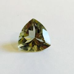 TRILLION FACETED AAA BRIGHT MINT GREEN (NATURAL) AMETHYST (4x4-12x12mm)