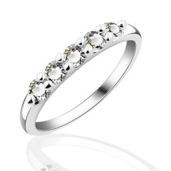 10kt White Gold Filled Bright White Cubic Zirconia Ring Size 7