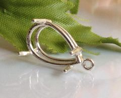 14kt Gold or Sterling Silver Pear Cast Wire Dangle Setting (5x3-30x22mm)