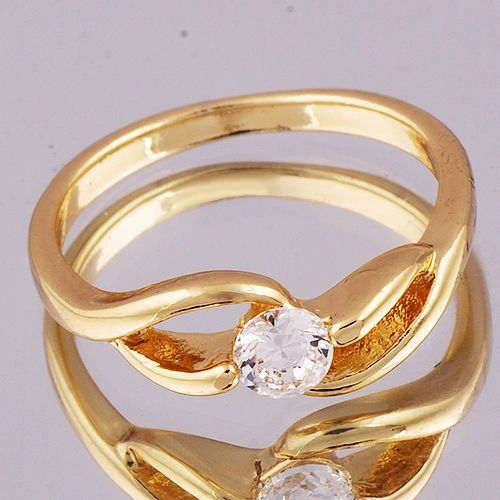Yellow Gold Filled Cubic Zirconia Fashion Ring Size 6.5