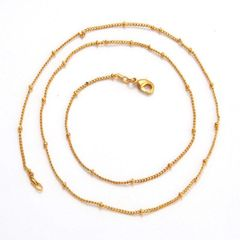 14kt Yellow Gold Filled Fancy Chain With Lobster Claw Clasp