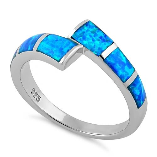 Sterling Silver Lab Created Opal Meet Me Halfway Pattern Ring Size 4-11