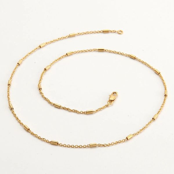 """14kt Yellow Gold Filled 19.5"""" Fancy Chain With Lobster Claw Clasp"""