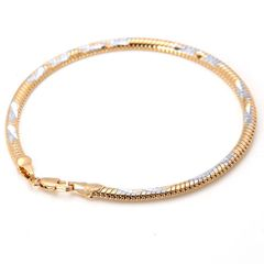 "14kt White & Yellow Gold Filled 8.14"" Fancy Bracelet With Lobster Claw Clasp"
