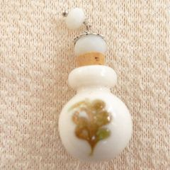 Lovely Murano Lampwork Ivory Glass Perfume Bottle