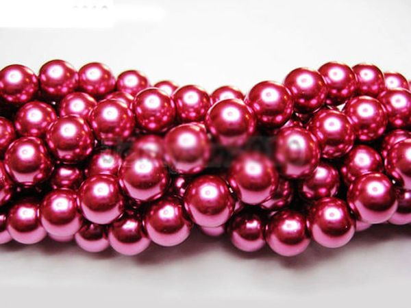 100 Pieces 4mm Round Bright Czech Glass Pearl Beads